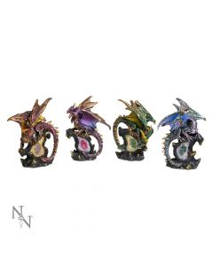 ABCD - Dragon Protector Set S/4 11cm Dragons Dragons Value Range
