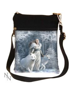 Winter Guardians (AS) Shoulder Bag 23cm Wolves Artist Wolves Artist Collections