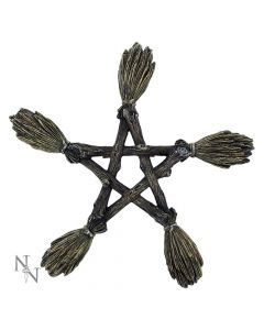 Broomstick Wall Plaque 19cm Witchcraft & Wiccan Witchcraft & Wiccan Premium Range