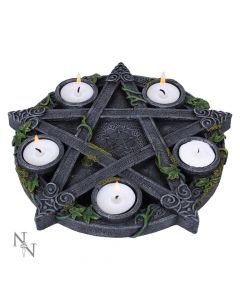 Wiccan Pentagram Tea light Holder 25.5cm Witchcraft & Wiccan Witchcraft & Wiccan Premium Range