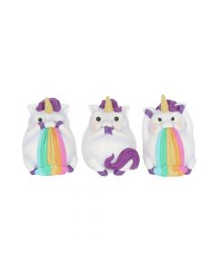 Three Wise Pukicorns 8.5cm Unicorns NN Small Figurines Premium Range