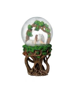 Pure Heart Snow Globe (AS) 18cm Unicorns Decorations Artist Collections