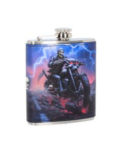 Hell on the Highway Hip Flask (JR) 7oz Bikers Hipflask Artist Collections