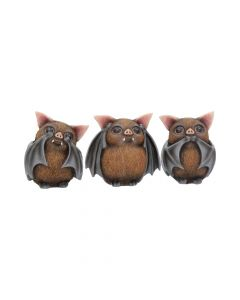 Three Wise Bats 8.5cm Bats NN Small Figurines Premium Range
