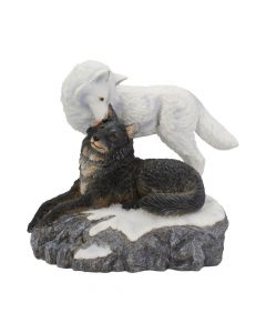 Snow Kisses 20.5cm Wolves Lisa Parker Figurines Artist Collections
