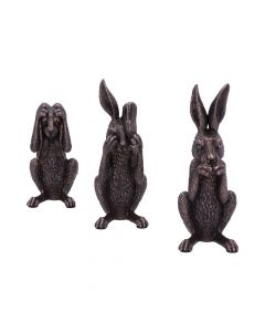 Three Wise Hares 14cm Hares NN Small Figurines Premium Range