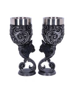 Familiars Love Goblets 18.5cm (Set of 2) Cats De retour en stock Premium Range