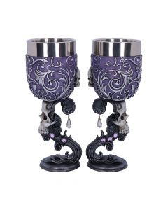 Deaths Desire Goblets 18.5cm (set of 2) Skulls Gift Ideas Premium Range