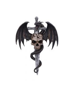 Draco Skull Wall Plaque 36.5cm Dragons New Arrivals Artist Collections