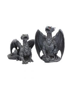 Dark Fury (Set of 2) 10cm Dragons Premium Dragon Figurines Small Premium Range