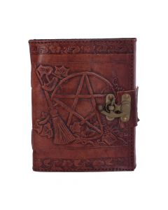 Pentagram Leather Emboss Journal+Lock(SIW) Witchcraft & Wiccan Witchcraft & Wiccan Premium Range