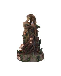 Lady Earth Backflow Incense Burner 23.5cm Tree Spirits Déesse de la Terre Premium Range