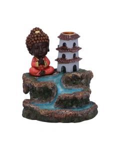 Zen Temple Backflow Incense Burner 13cm Buddhas and Spirituality New in Stock Indéterminé