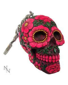 Sugar Blossom Keyrings 6cm (Pack of 6) Skulls Skulls Value Range