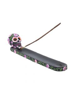 Sugar Petal Incense Burner 26.5cm Skulls Skulls Value Range