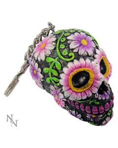 Sugar Petal Keyrings 6cm (Pack of 6) Skulls Skulls Value Range