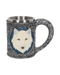 Ghost Wolf Tankard Large 17cm Wolves All Animals Value Range