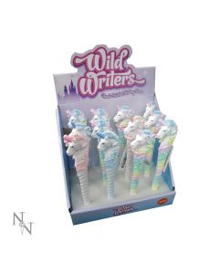 Wild Writers Unicorn Pens 16cm (Display of 12) Unicorns All Animals Value Range