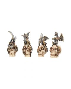 Mind Machines 10.5cm (Set of 4) Skulls De retour en stock Value Range