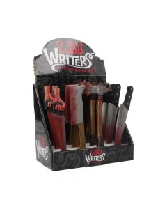 Wild Writer Weapon Pens 16cm (Display of 12) Horror Stylos