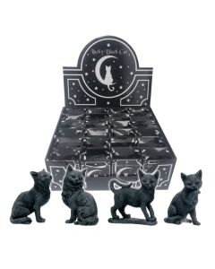 Lucky Black Cats 9cm (Display of 24) Cats All Animals Value Range