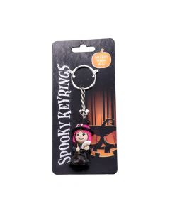 Spooky Keyrings Witch 5.5cm (Pack of 12) Witchcraft & Wiccan Wiccan & Witchcraft Value Range