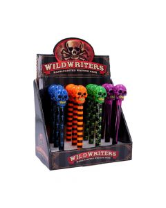 Wild Writers Numbskull Pens (Display of 12) 16cm Skulls Skulls Value Range