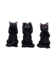 Three Wise Felines 8.5cm Cats De retour en stock Value Range