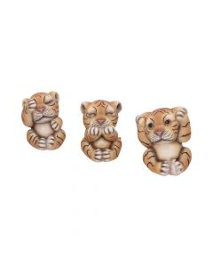 Three Wise Tigers 8cm Animals All Animals Value Range