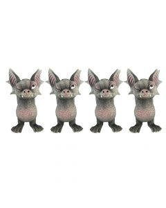 Bite 9.1cm (Set of 4) Bats Figurine petit (moins que 15cm) Value Range
