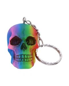 Rainbow Keyrings 4.3cm (set of 6) Skulls Skulls Value Range