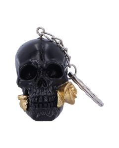 Black Rose from the Dead Keyrings 4.3cm (set of 6) Skulls Skulls Value Range