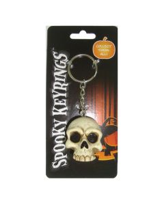Spooky Keyrings - Skull 4cm (Pack of 12) Skulls Skulls Value Range