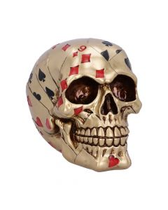 Dead Man's Hand - Gold 15cm Skulls New Product Launch Value Range
