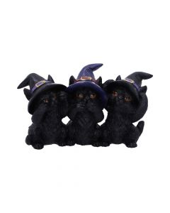 Three Wise Black Cats 11.5cm Cats New Product Launch Value Range
