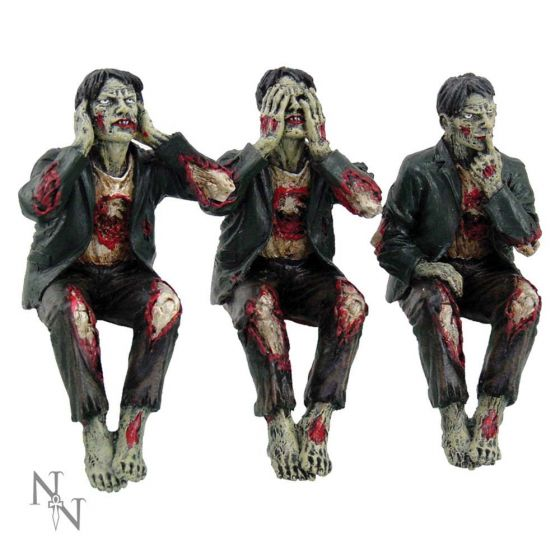 See No, Hear No Speak No Evil Zombies 10cm Zombies Collection Halloween