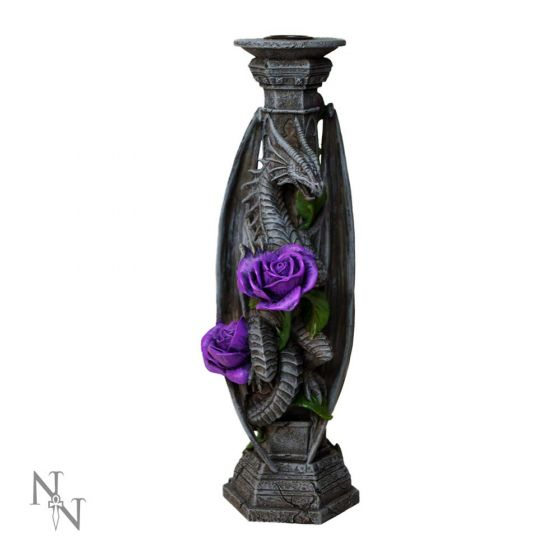 Dragon Beauty Candle Stick (AS) 25cm Dragons Artist Dragon Candle-Holders Artist Collections