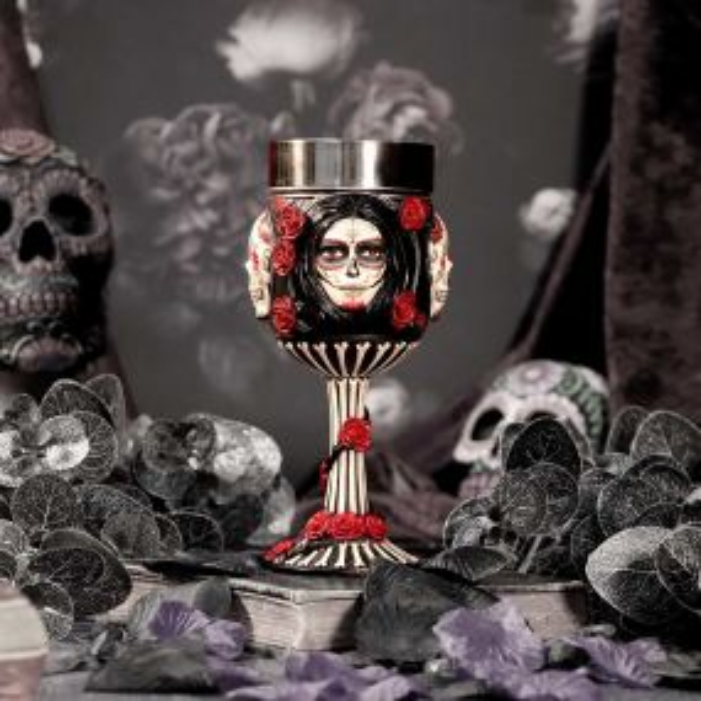 Sugar Skull Goblet 19.5cm (JR)