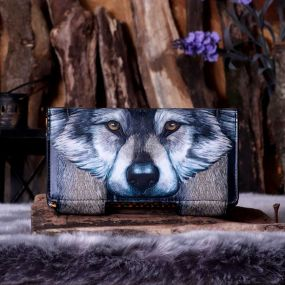 Guardian Wolf Embossed Purse 18.5cm