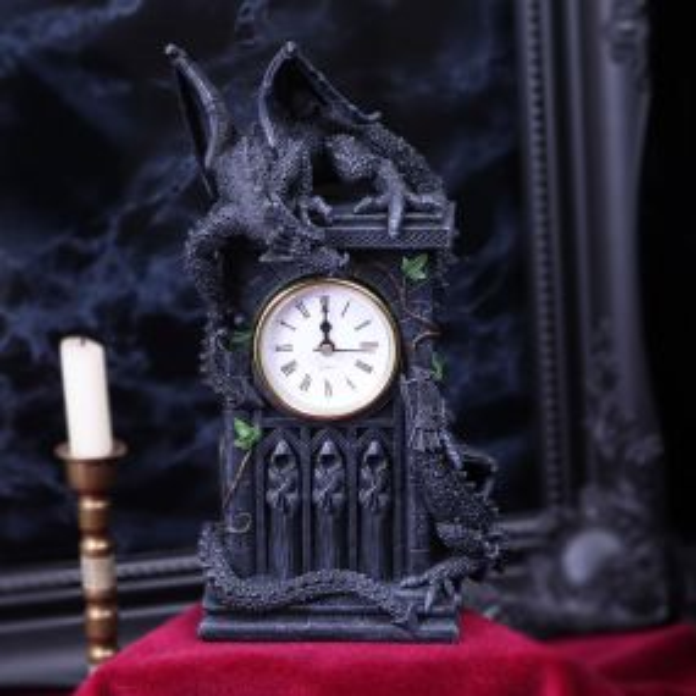 Duelling Dragons Clock (26cm)