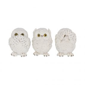 Three Wise Owls 8cm