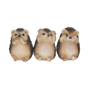 Three Wise Hedgehogs 8.5cm