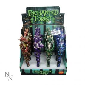 Enchanted Forest Dragon Pens 16cm (Display of 12)