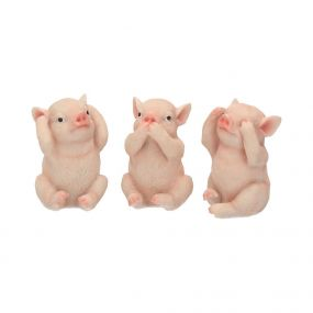 Three Wise Pigs 9.5cm