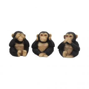 Three Wise Chimps 8cm