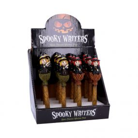 Spooky Writers Witch Pens (Display of 12) 16cm