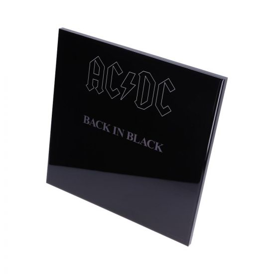 ACDC-Back in Black Crystal Clear Picture 32cm Band Licenses ACDC Artist Collections