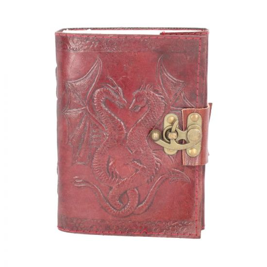 Double Dragon Leather Embossed Journal & Lock Dragons Dragons Premium Range