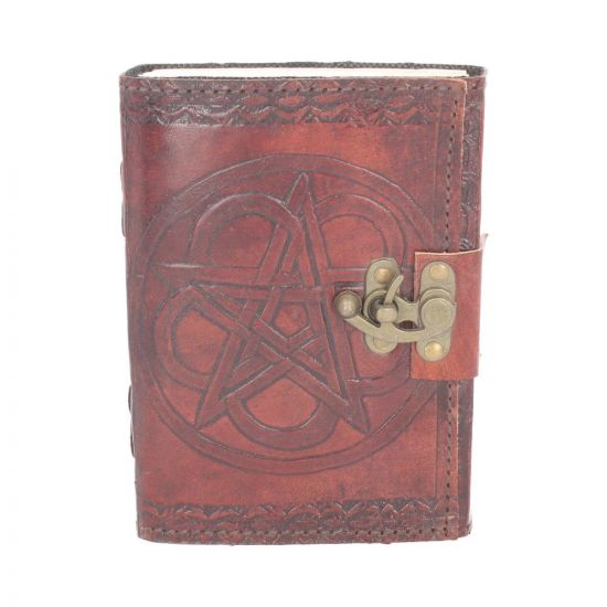 Pentagram Leather Embossed Journal & Lock Witchcraft & Wiccan Sorcellerie et Wiccan
