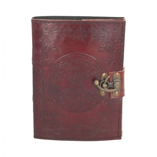 Tree Of Life Leather Journal w/lock 15 x 21cm Witchcraft & Wiccan Witchcraft & Wiccan Premium Range